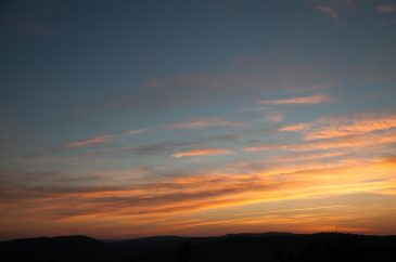 Orange Red Blue Coloured Sunrise