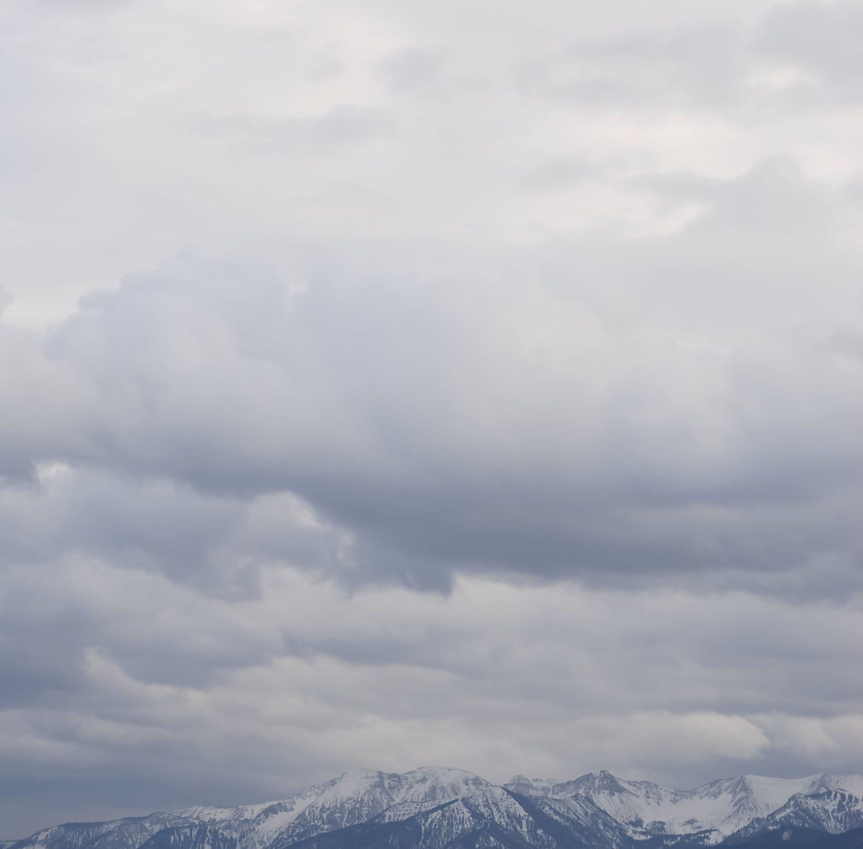 Big rainy mid-level clouds