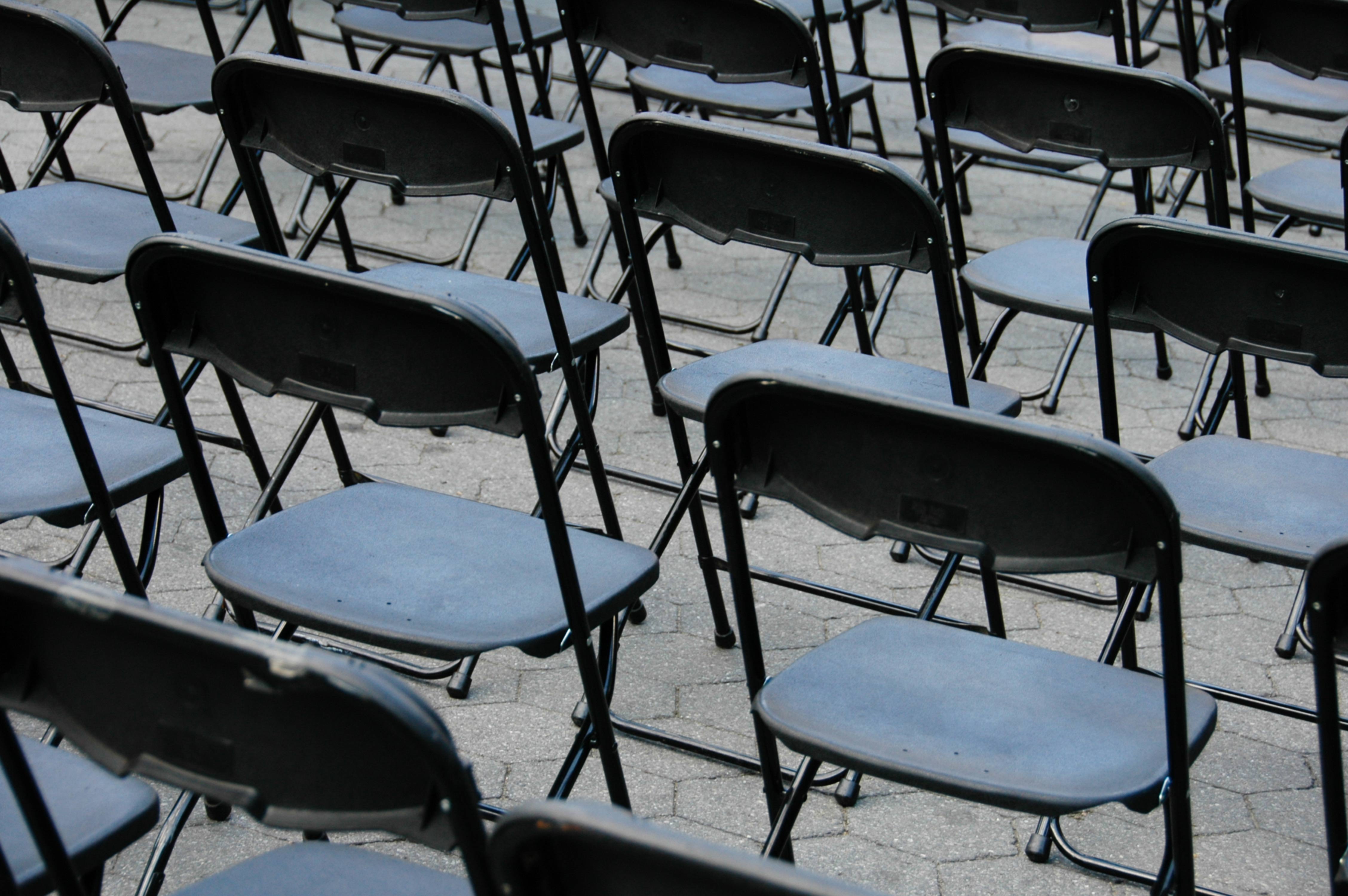 Black Plastic Folding Chairs