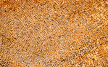 Small mosaic dirt floor background