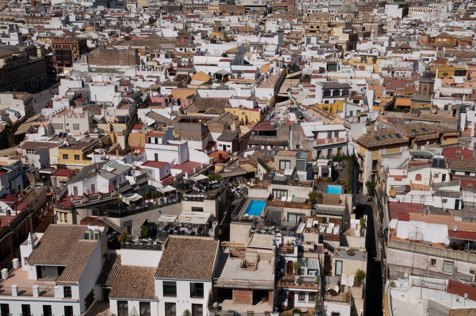 City Rooftops Pattern Photo Sevilla Spain
