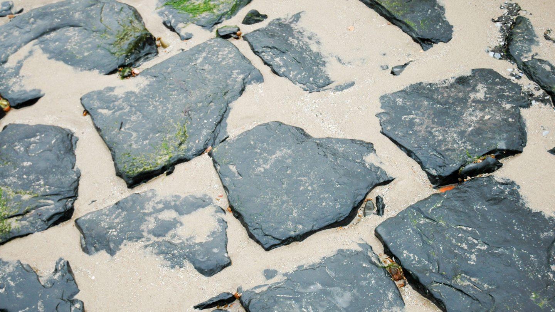 Beach Rock Tiles and Sand