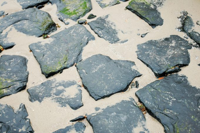 Beach Rock Tiles and Sand