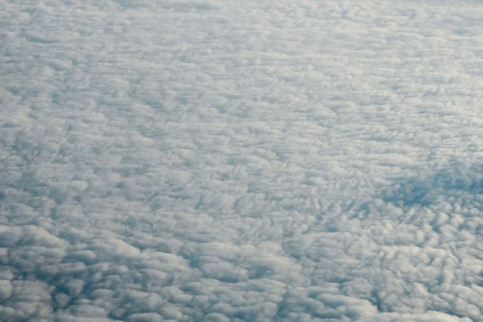 High above the clouds view