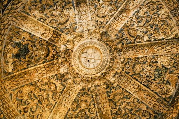 Ancient dome scultpured ceiling