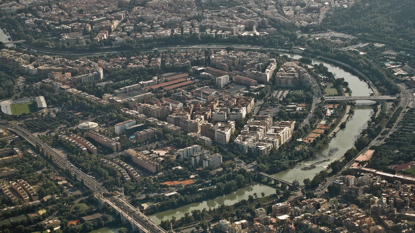 Rome from the sky