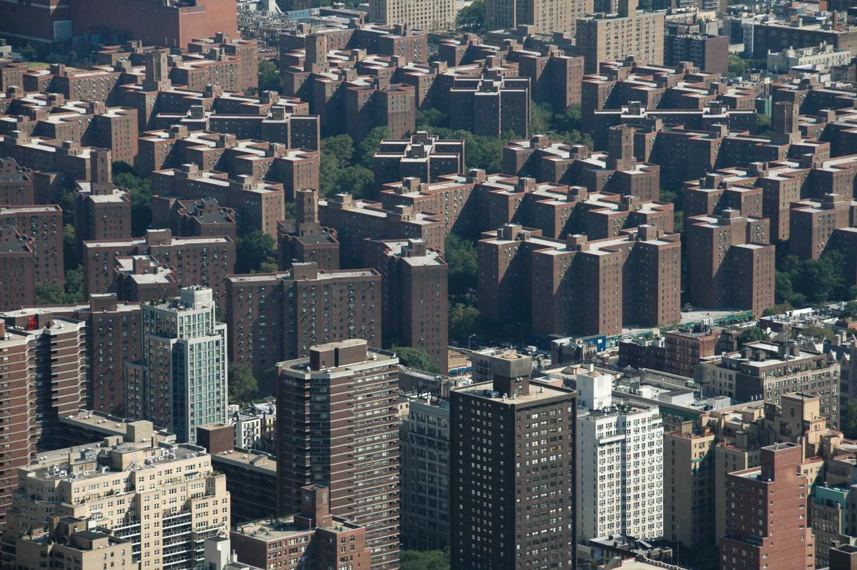 Aerial photo apartment buildings Bronx