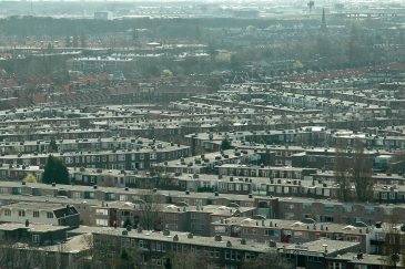 Rotterdam houses view background