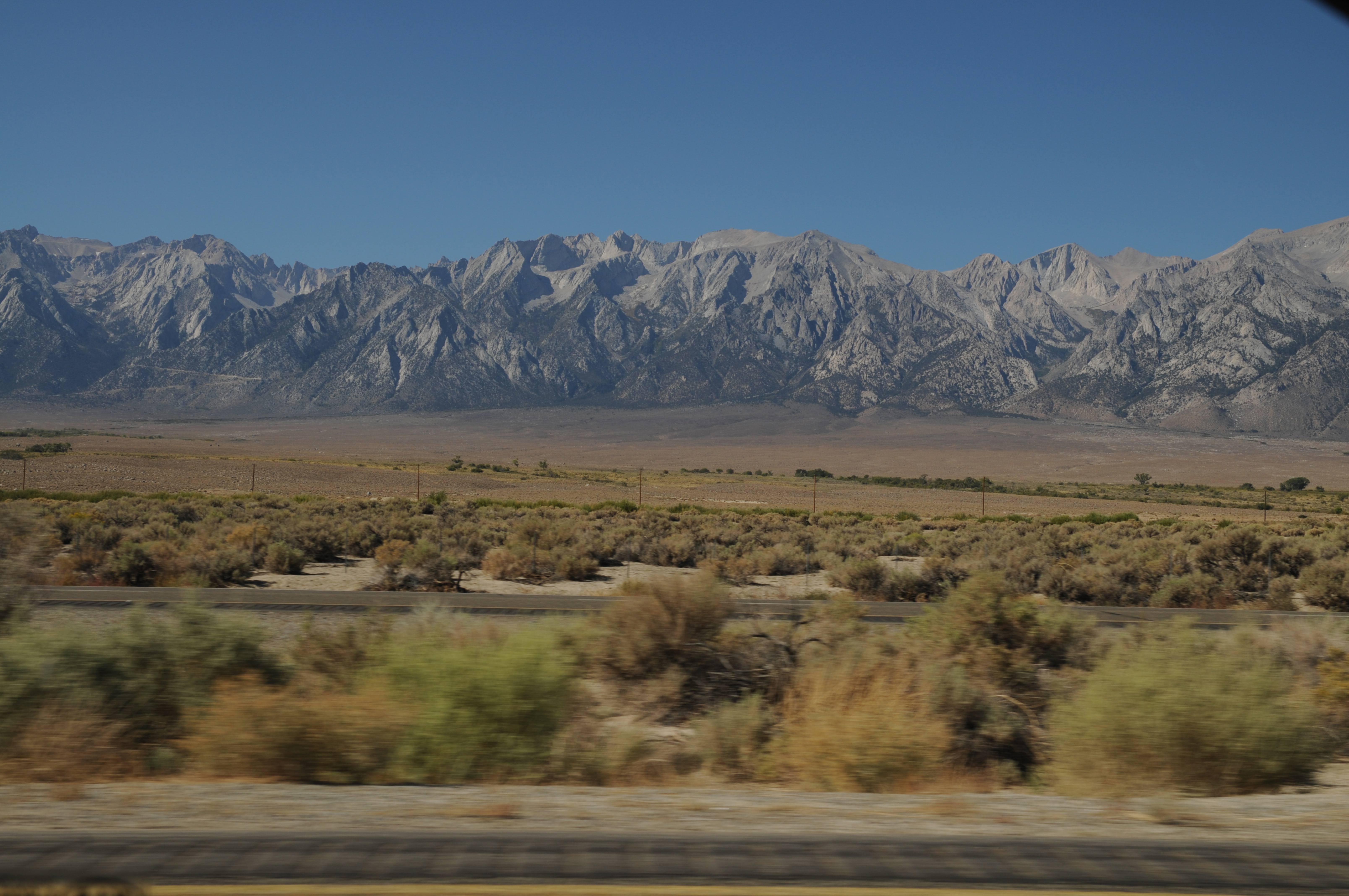 Sierra nevada road side view