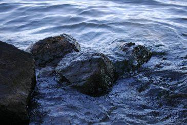 Dark Water and Rocks