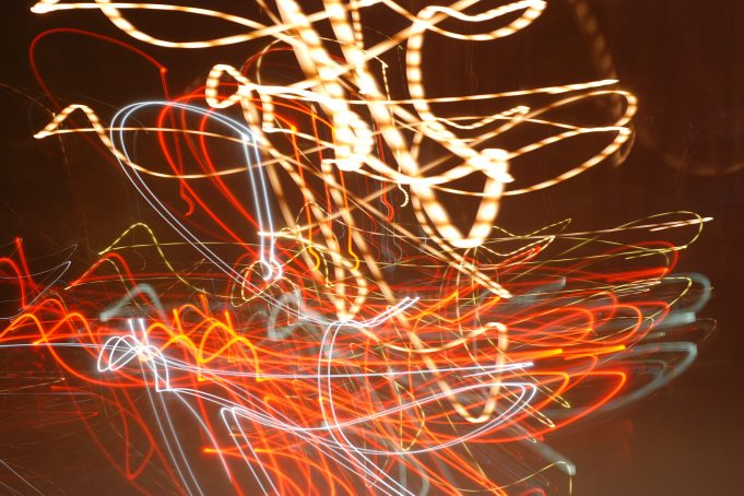 Long shutter exposure light painting