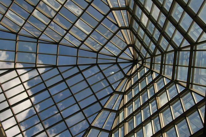 New York Museum of History interior Glass