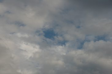 Grey clouds and blue sky