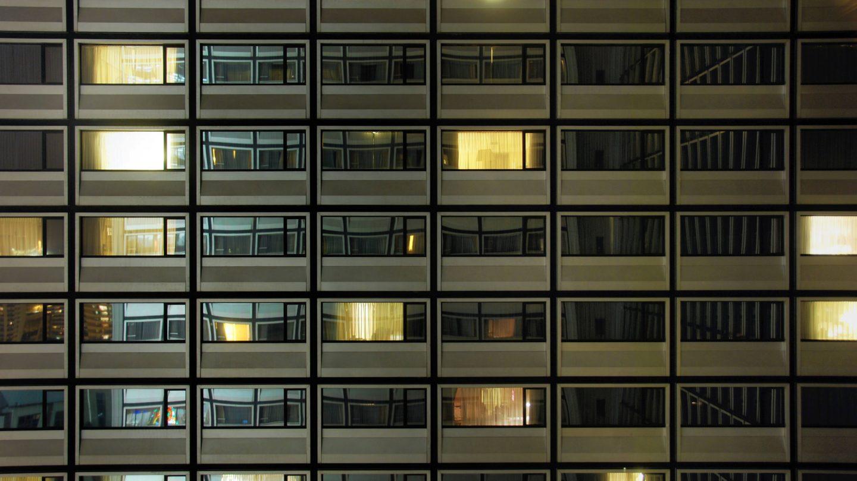Pattern of Hotel Window Lights