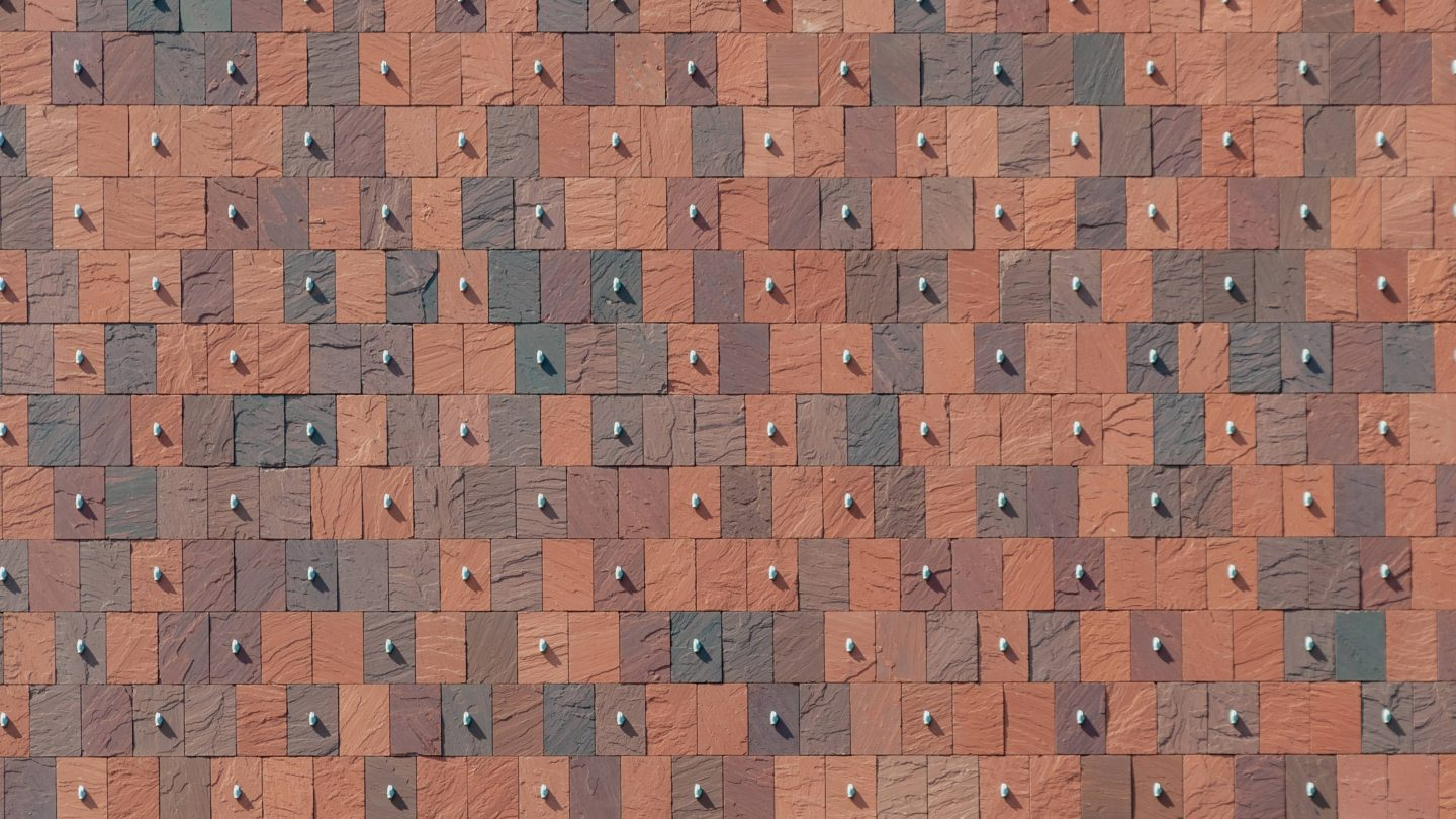 Pattern wall red tiles