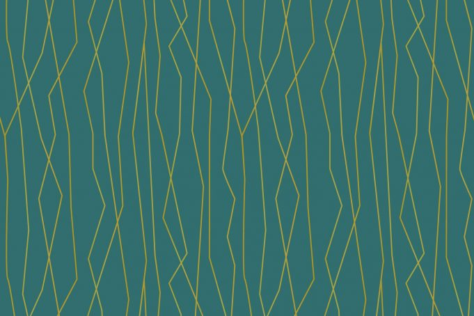 Peacock green and gold abstract background pattern