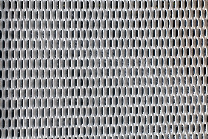 Perforated metal mesh close-up pattern