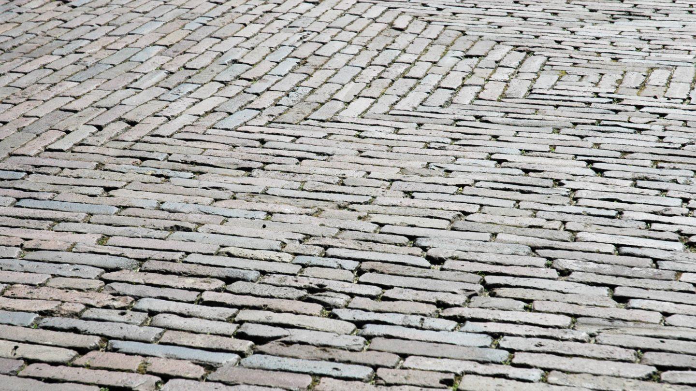 Perspective Road Stone Bricks Pattern