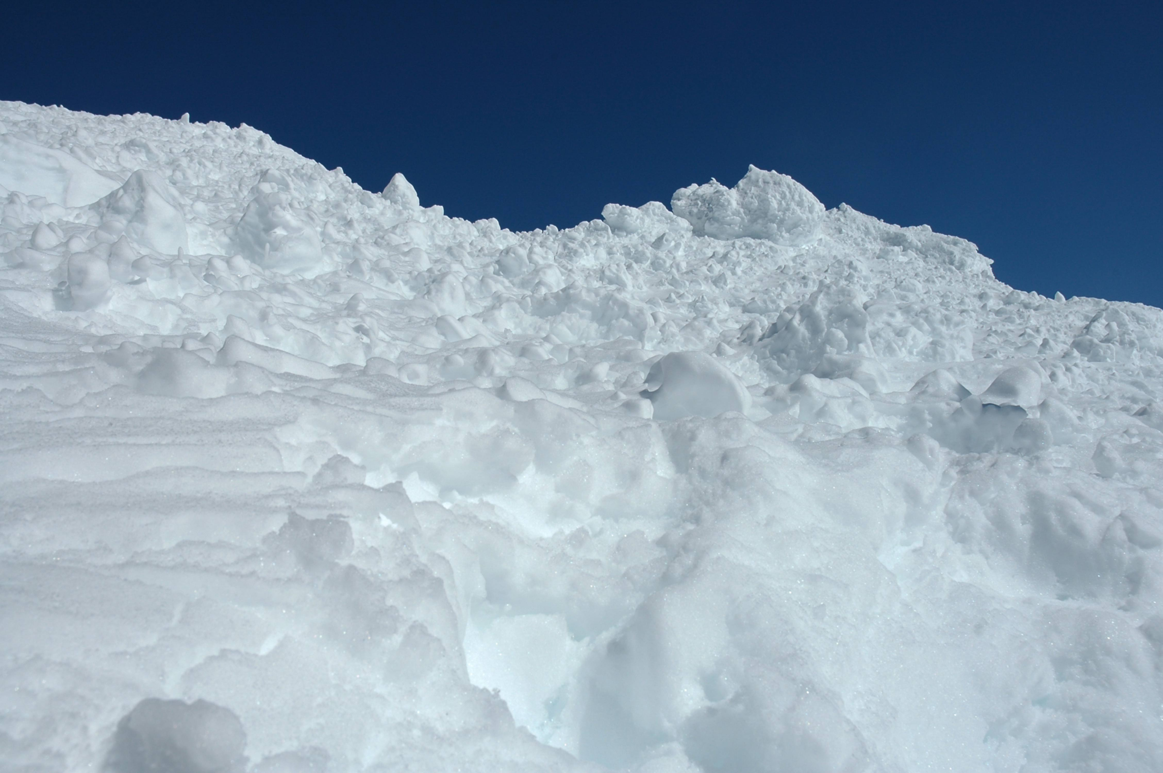 Pile of White Snow on a Blue Sky Pile of White Snow on a Blue Sky