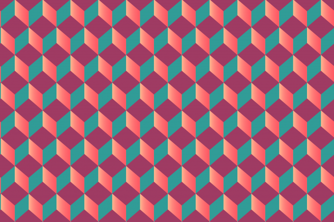 Pink green red cubes seamless patternpictures