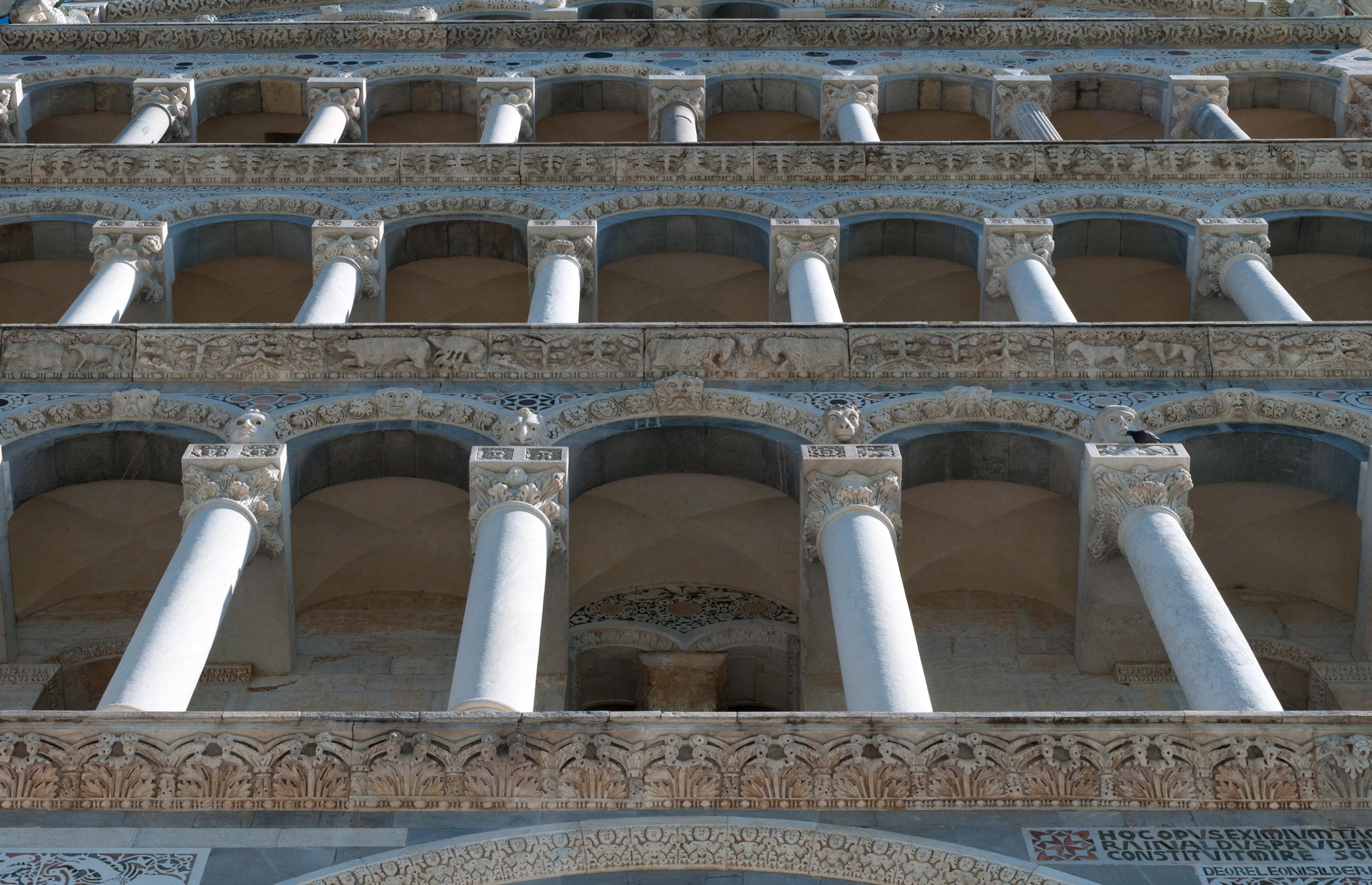 Pisa Cathedral galleries viewed from below