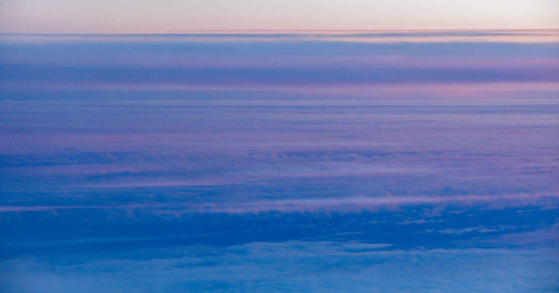 Radiant blue aerial sky view