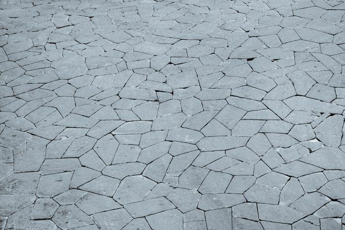 Random stone shapes floor pattern photo
