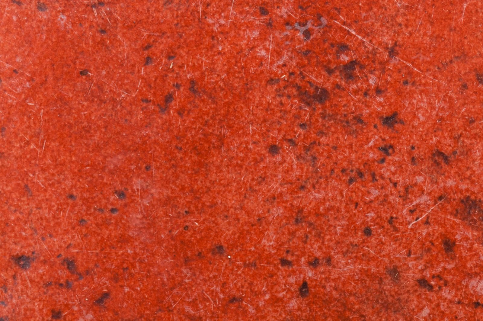 Red Eroded Metal Plate
