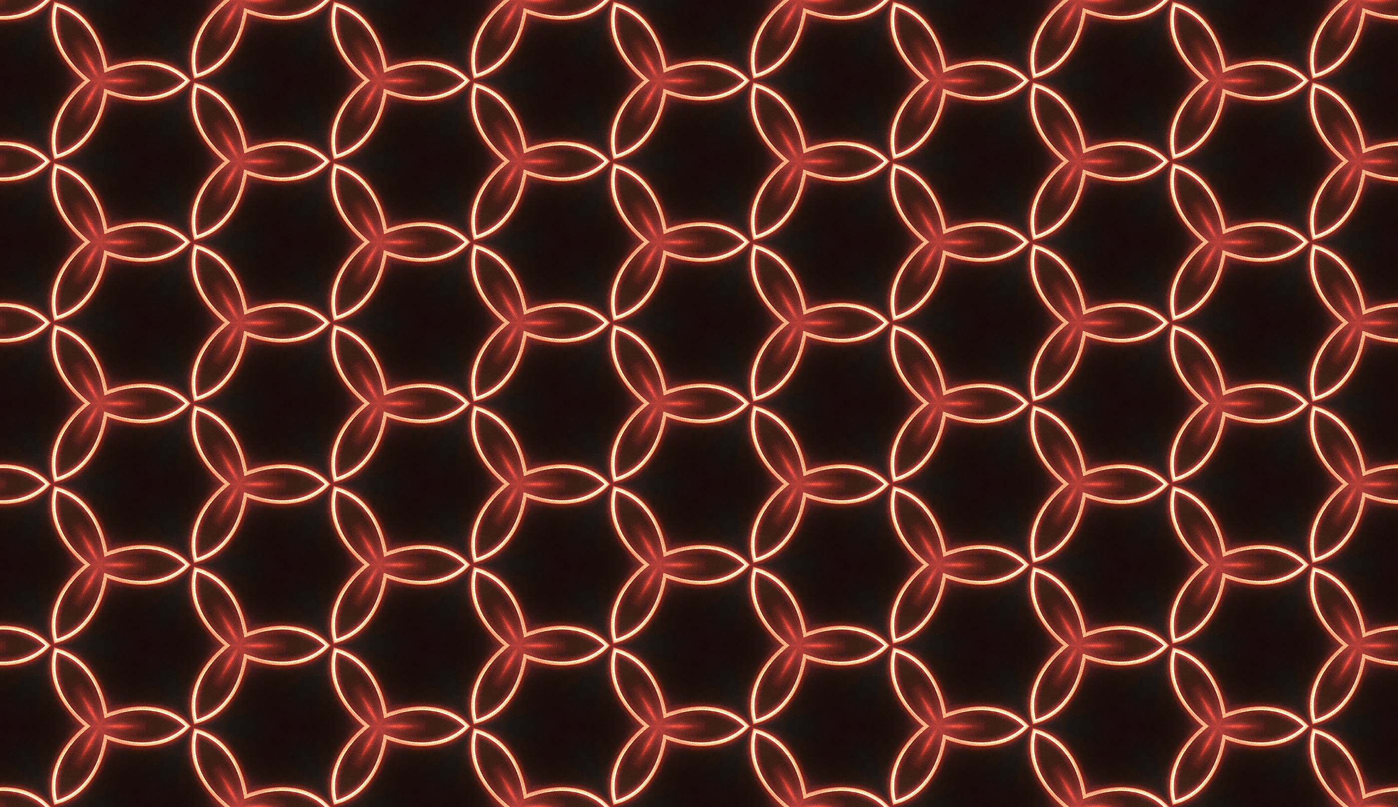 Red Glowing Neon Circles pattern