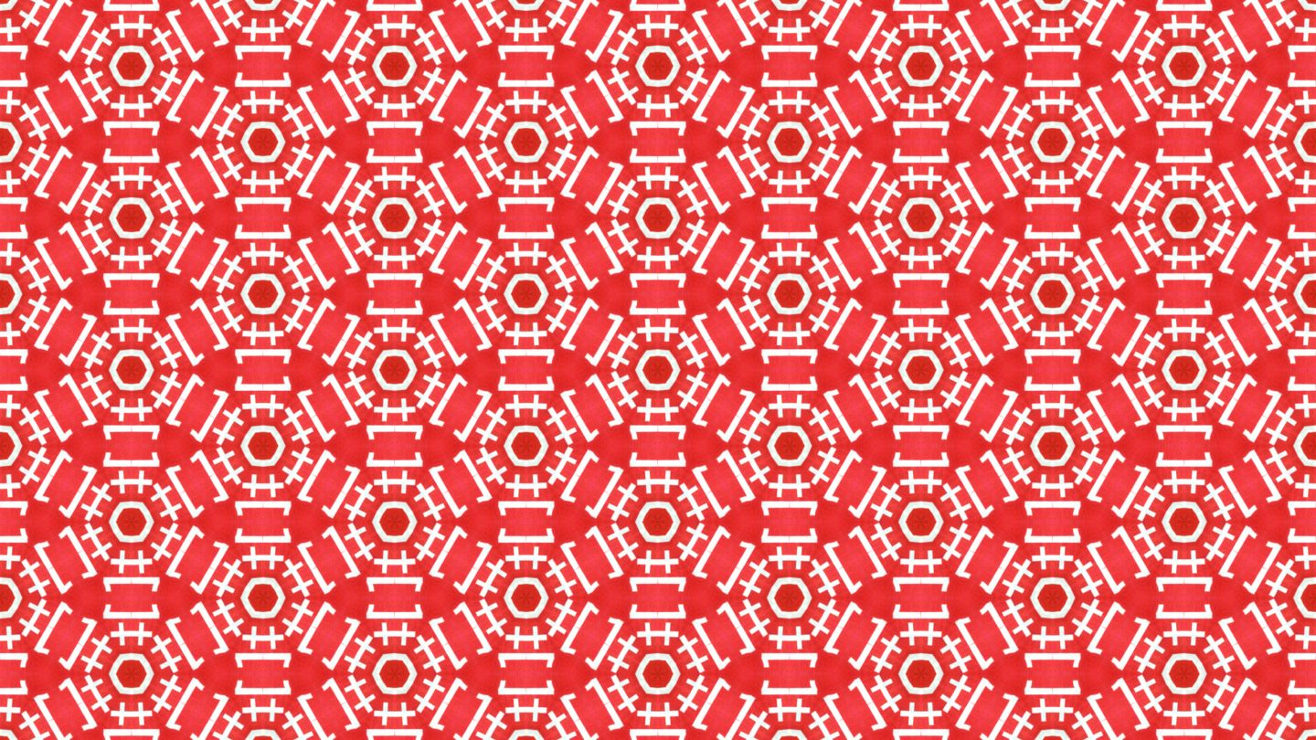 Red One Plus One Typographic seamless pattern