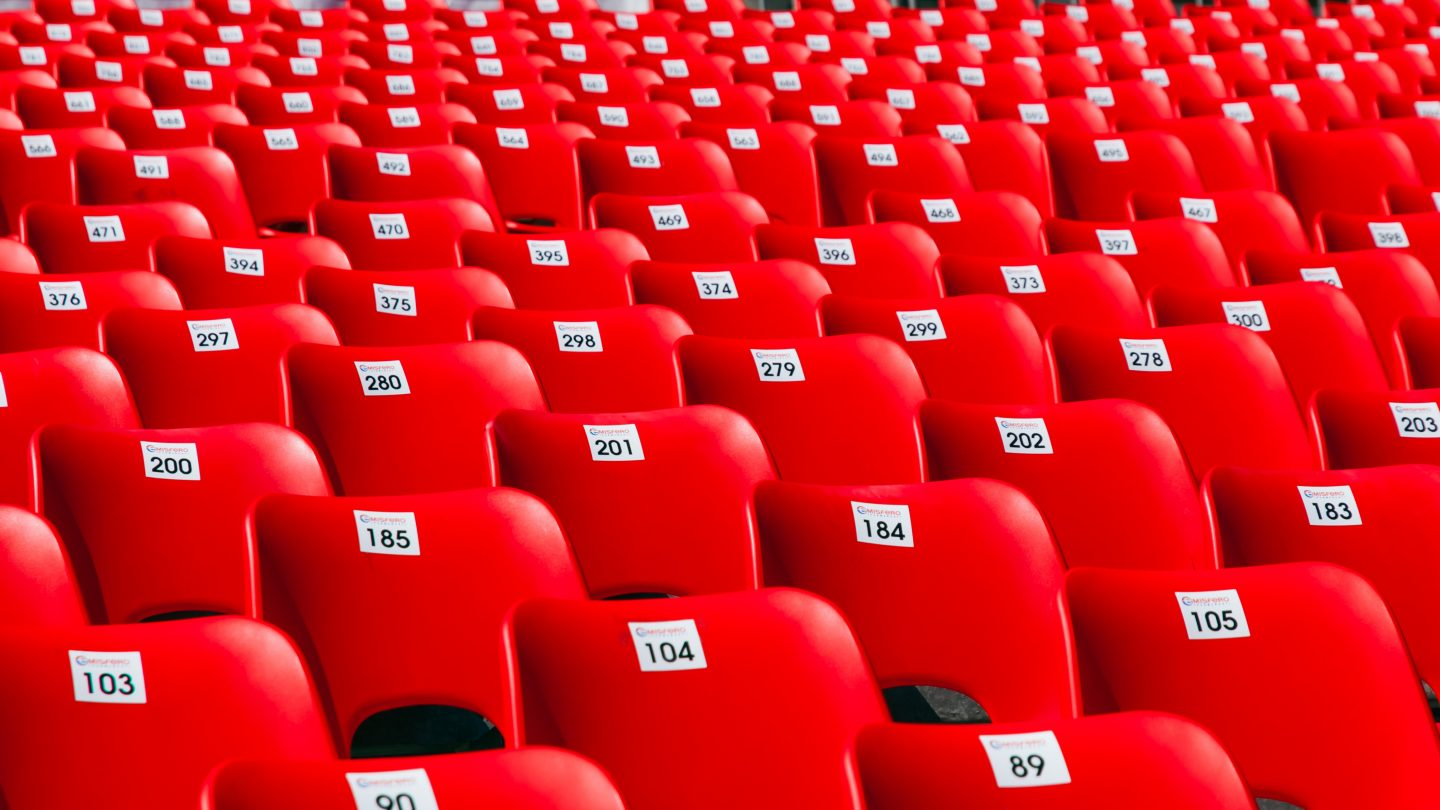 Red seats pattern background