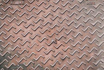 Rusty metal floor s pattern