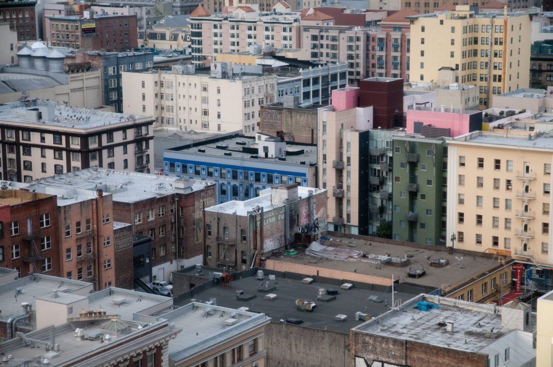 San Francisco city rooftops
