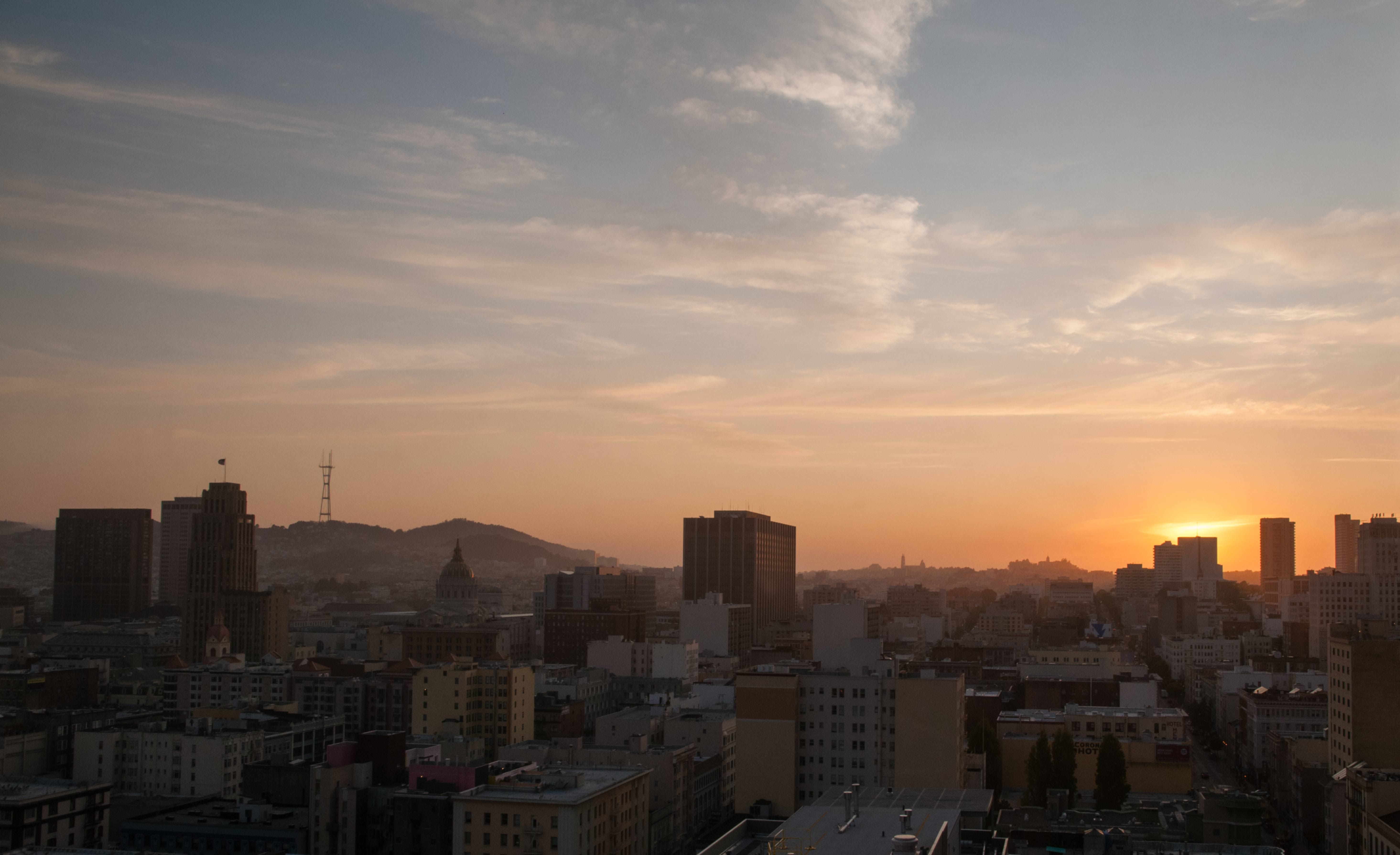 San Francisco skyline sunset