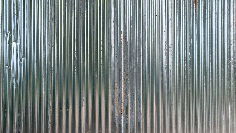 Shiney metal corrugated sheets texture