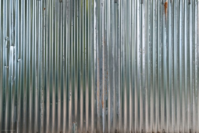 Shiney metal corrugated sheets texture