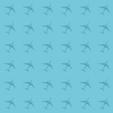 Single plane in the sky