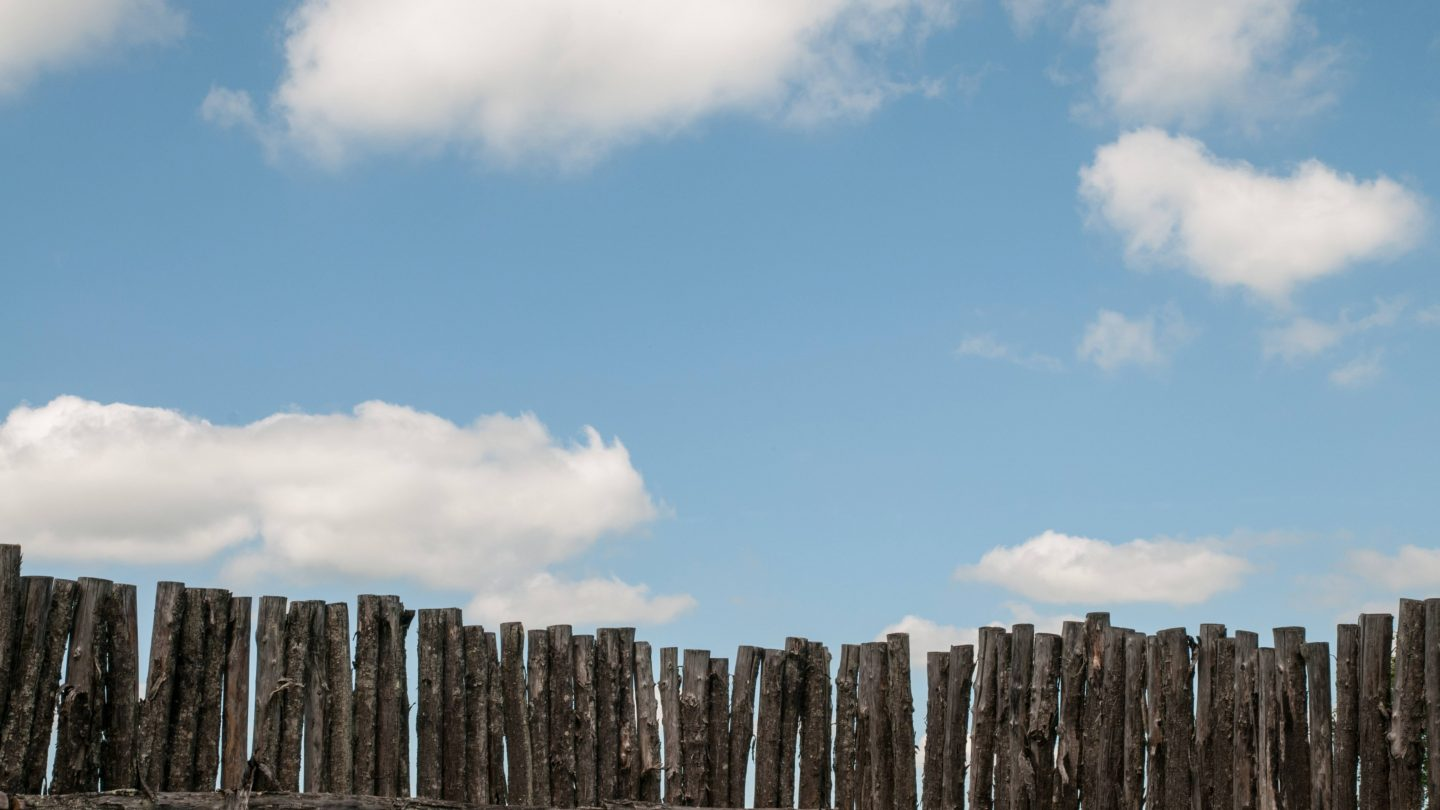 Sky fence old lumber
