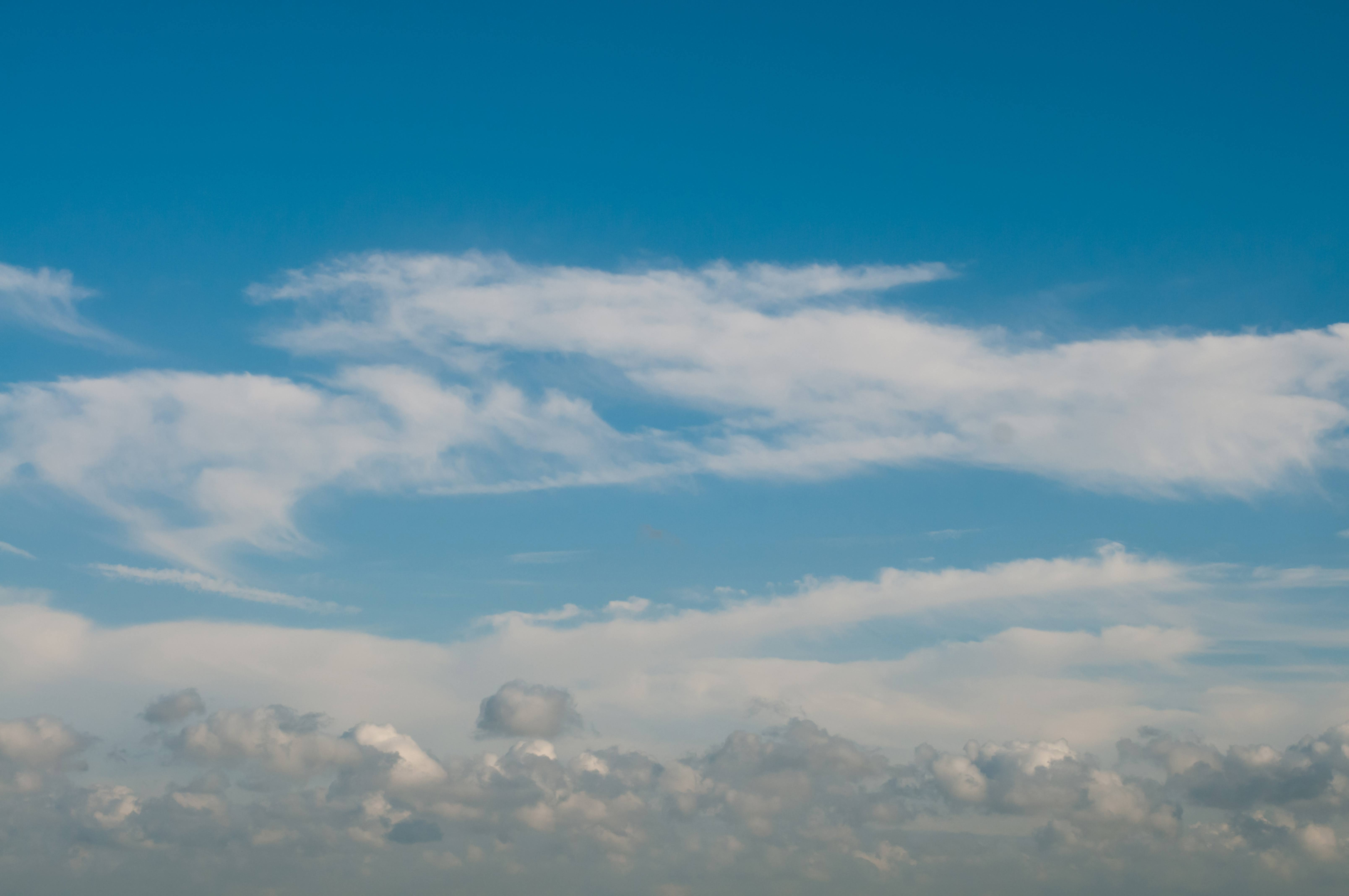 Sky with various cloud formations