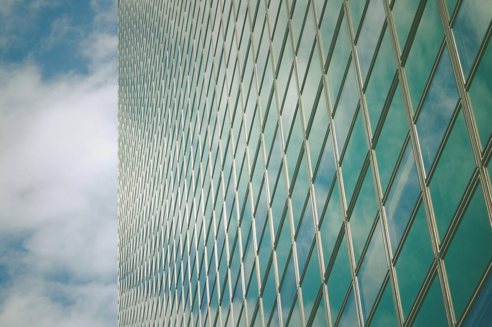 Skyscraper windows pattern The Hague