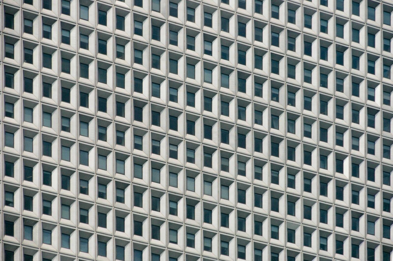 Skyscraper Windows close-up pattern