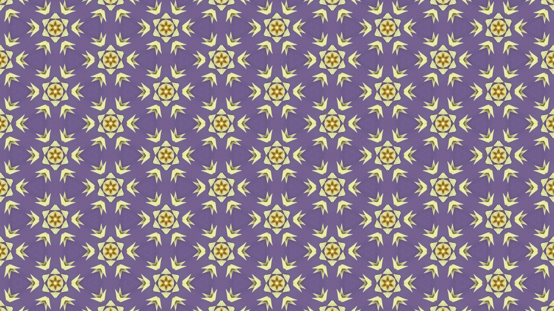 Small Paper cut yellow Flower pattern