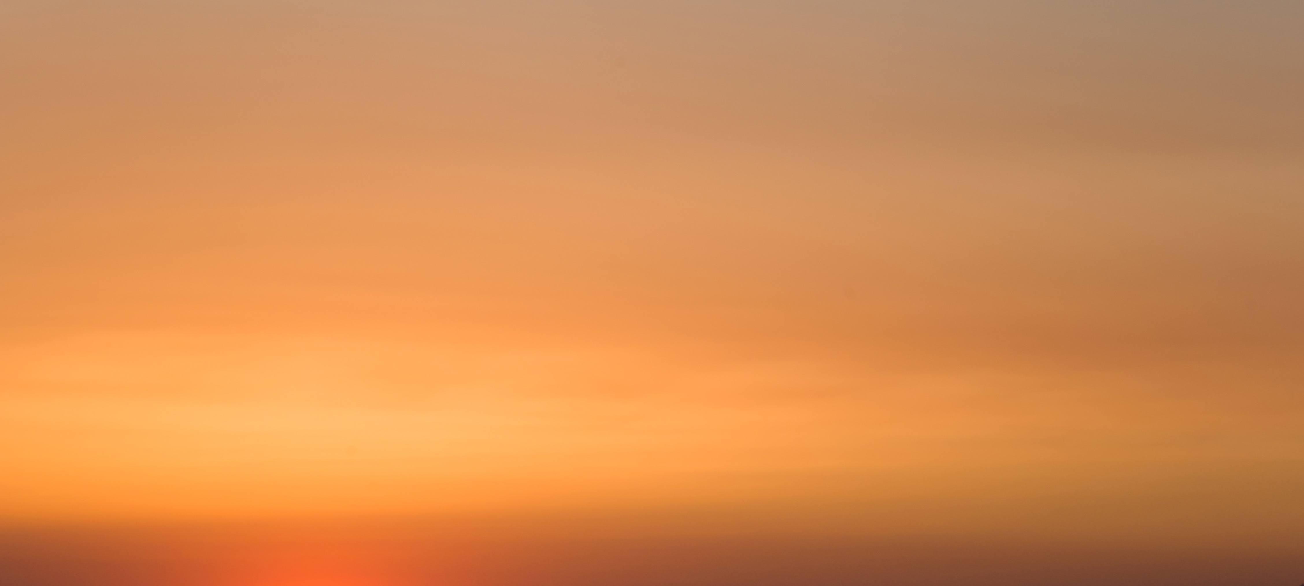 Soft Glowing Evening Sunset Sky
