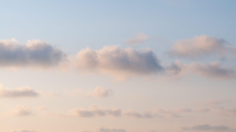 Soft sky clouds background photo