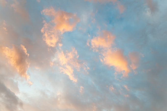 Soft sunrise sky and clouds background