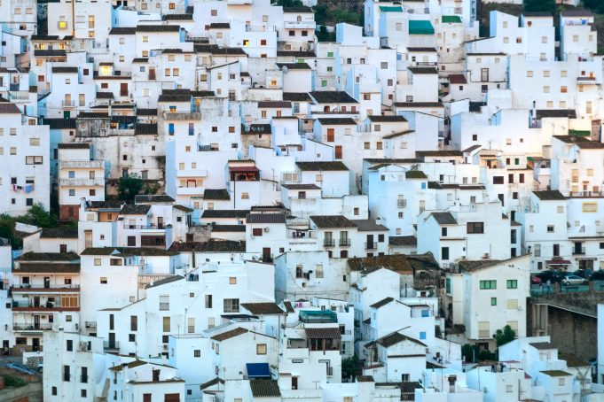 White village Casares Andalusia Spain background pattern