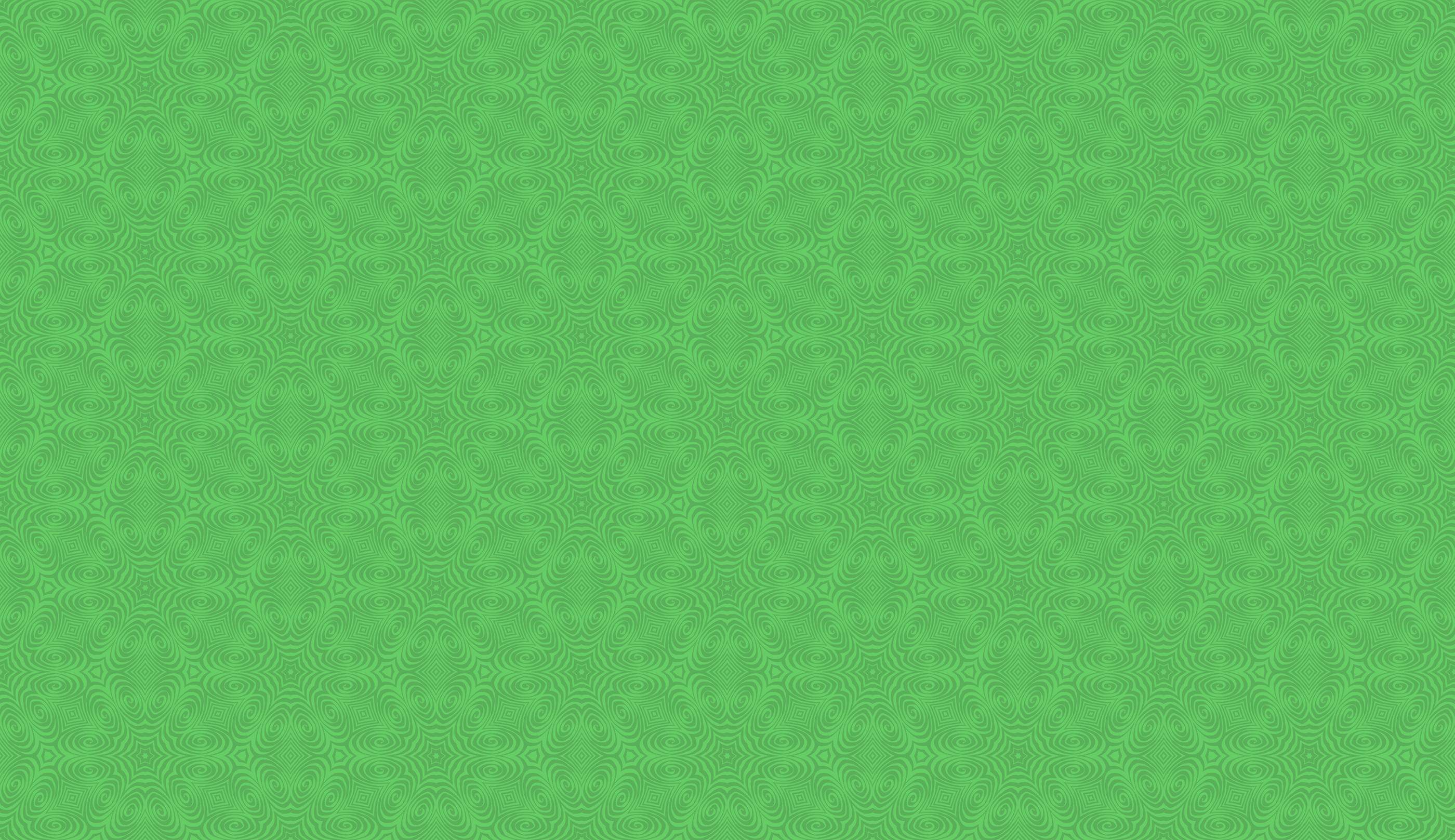 Spiral Calligraphic Green Background Pattern
