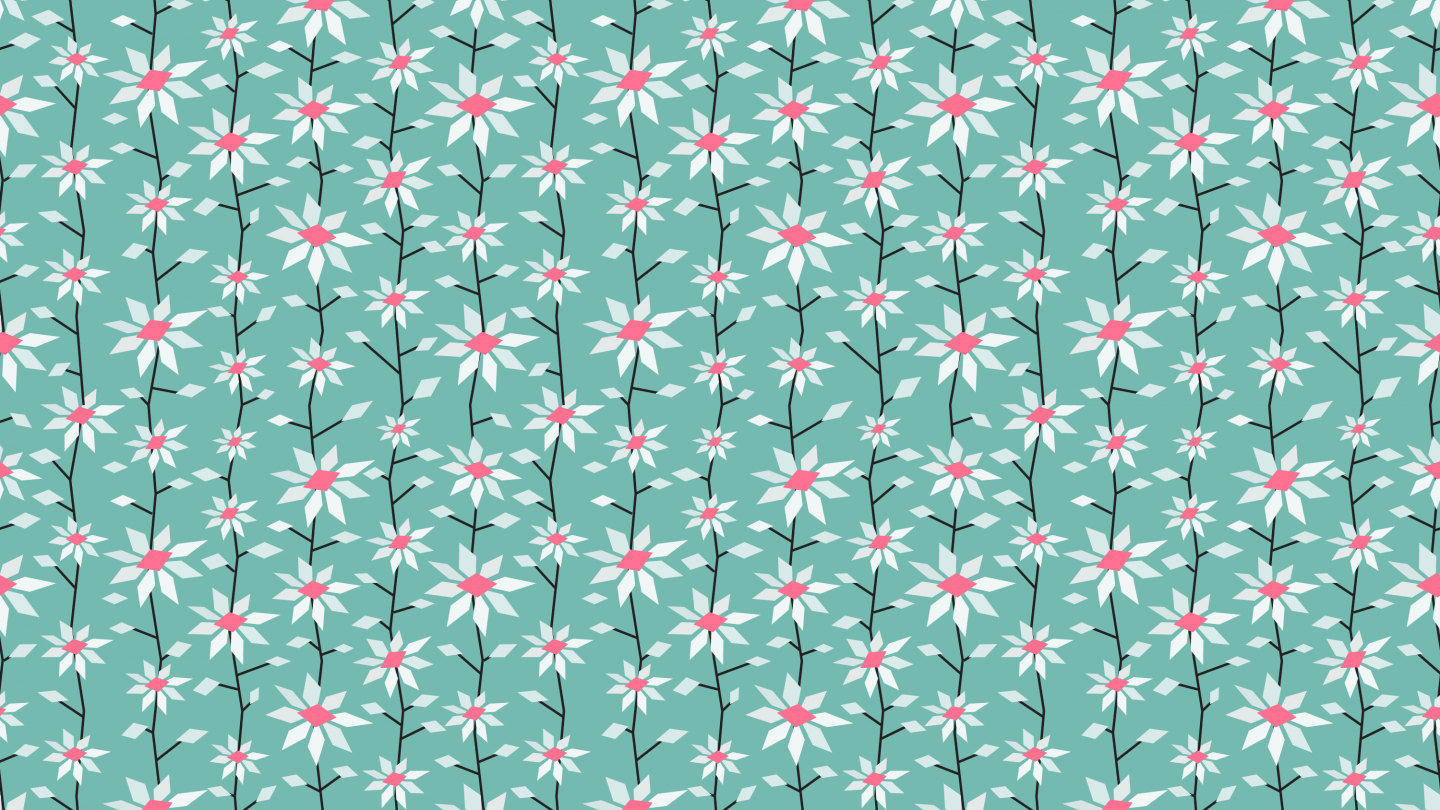 Spring flowers field graphic background seamless patternpictures-0220