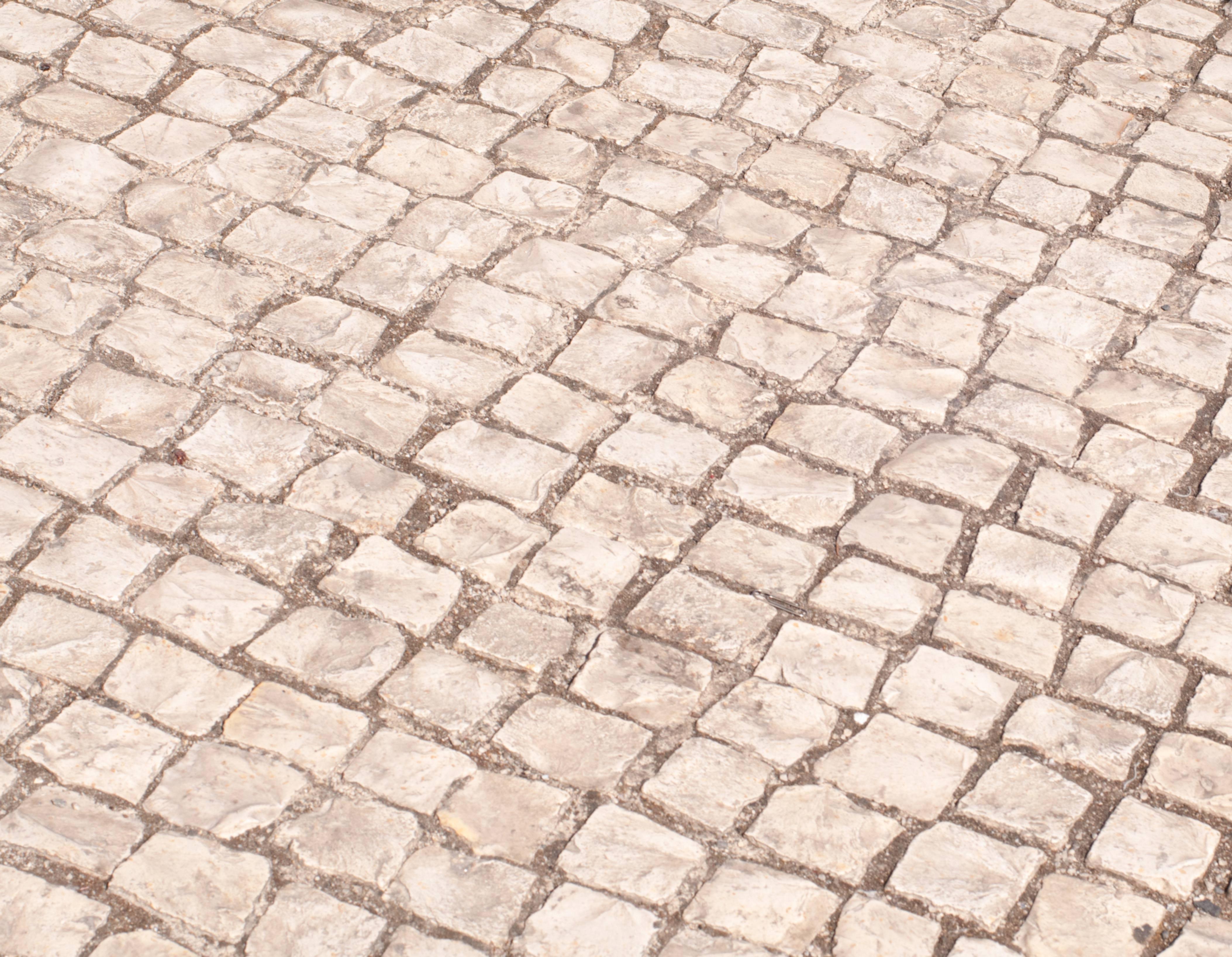 Square street stones background