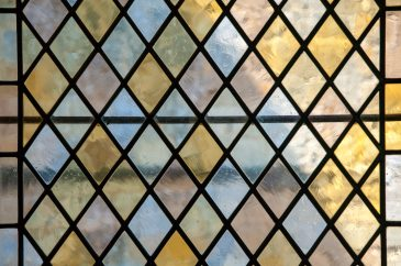 Stained glass window pastel colors
